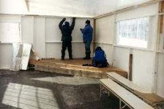 Installation du plafond intérieur