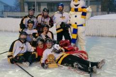 Les gagnants du tournoi de hockey bottine
